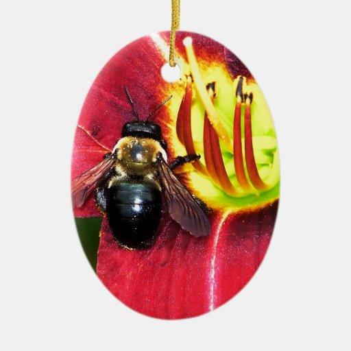 Bee and Flower Ornaments