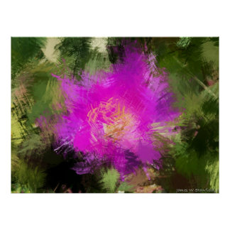 Bee and flower expressionism 1 print