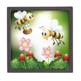 Bee and honey premium trinket boxes