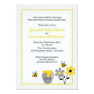 Bee and Honey Sprinkle Baby Shower Invitation