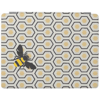 Bee and Honeycomb Pattern iPad Cover