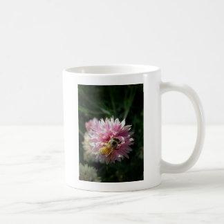 Bee and Pink Flower Coffee Mugs