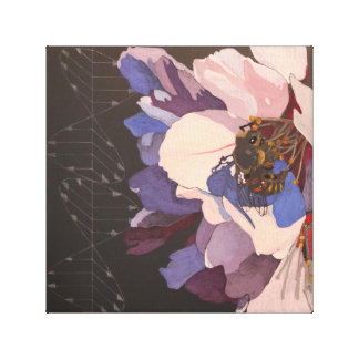 Bee and Polarized Light Canvas Print