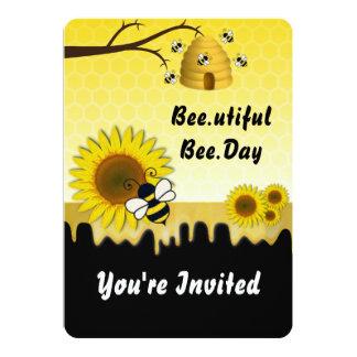 Bee and Sunflower Invitation
