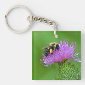 Bee and Thistle Key Chain