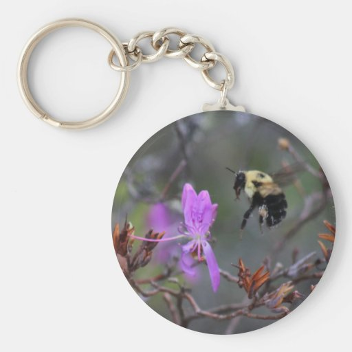 Bee and Wildflower Keychain