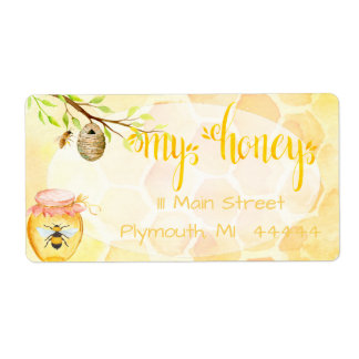 Bee Apiary Honey Shipping Labe Shipping Label