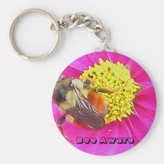 Bee Aware Keychain