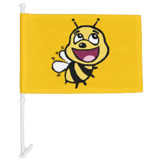 Bee Awesome Car Flag