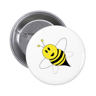 bee 6 cm round badge