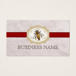 Bee Beekeeping Royal Red Stripe Fur Texture Business Card