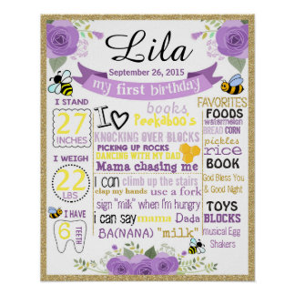 Bee birthday chalkboard sign chalk board poster