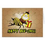 Bee Birthday Greeting Greeting Card