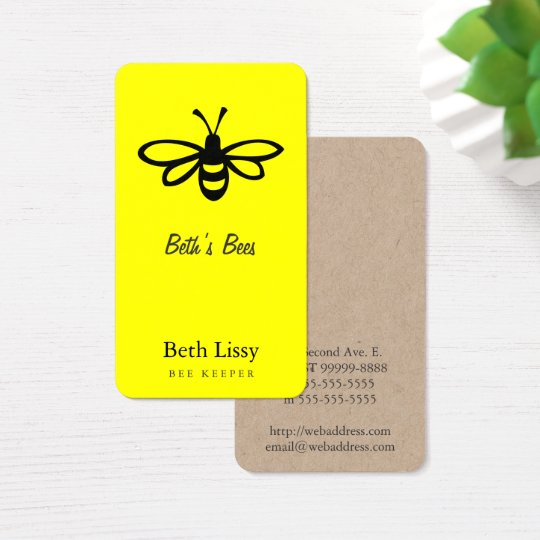 Bee [black] business card