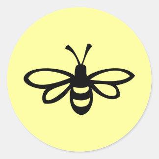 Bee [black] classic round sticker