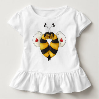 Bee Bopping Toddler Ruffle Tee