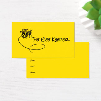 Bee Bright Yellow Background Sweet Flying Bees Business Card