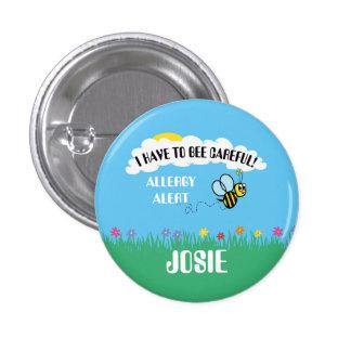 Bee Careful Food Allergy Alert Button