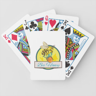 Bee Carrying Honey Pot Circle Drawing Bicycle Playing Cards