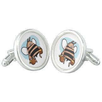 Bee cartoon cuff links