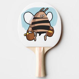 Bee cartoon ping pong paddle