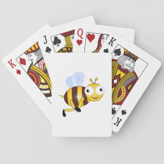 Bee cartoon playing cards
