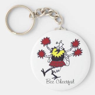 Bee Cheerful Keychain
