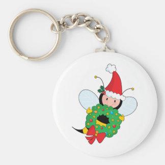 Bee Christmas Keychains