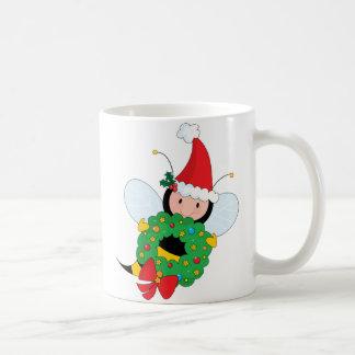 Bee Christmas Basic White Mug