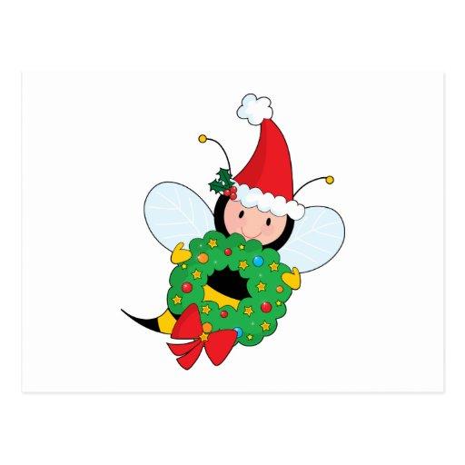 Bee Christmas Postcards