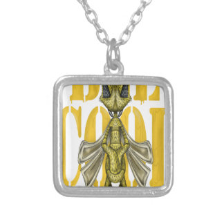 Bee Cool Square Pendant Necklace
