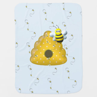 Bee Cool with Bee Hive Baby Blanket