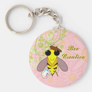 Bee Creative Keychain Basic Round Button Keychain