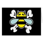 bee & cross bones card