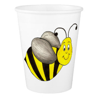 Bee Day Yellow Bumblebee Birthday Party Cups