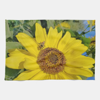Bee-Dazzled Sunflower Kitchen Towel
