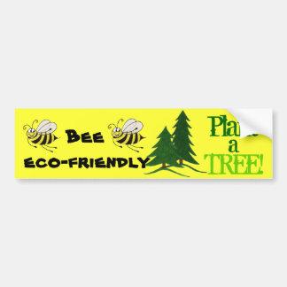 Bee Eco-friendly - Bumper Sticker Car Bumper Sticker