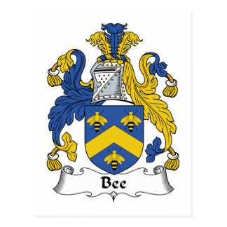 Bee Family Crest Postcard