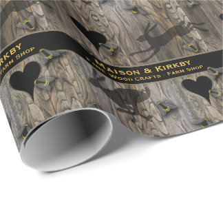 Bee farm honey farm crafts shop wrapping paper