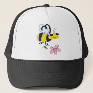 Bee & Flower Trucker Hat