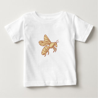 Bee Flying Mono Line Baby T-Shirt