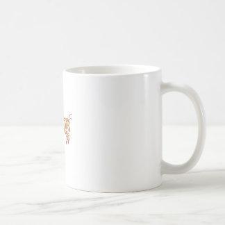 Bee Flying Mono Line Coffee Mug