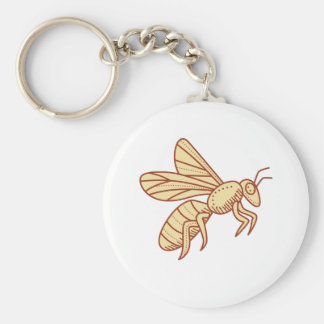 Bee Flying Mono Line Key Ring