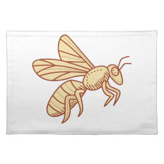 Bee Flying Mono Line Placemat