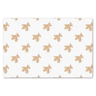 Bee Flying Mono Line Tissue Paper