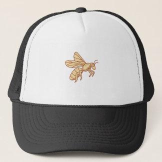 Bee Flying Mono Line Trucker Hat