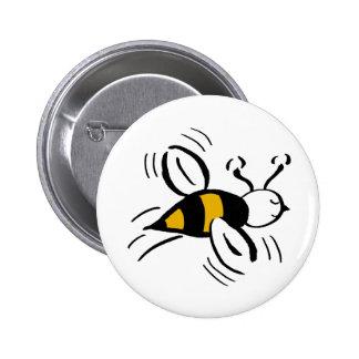 Bee Free Honey and Black Pin