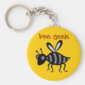 bee geek basic round button key ring