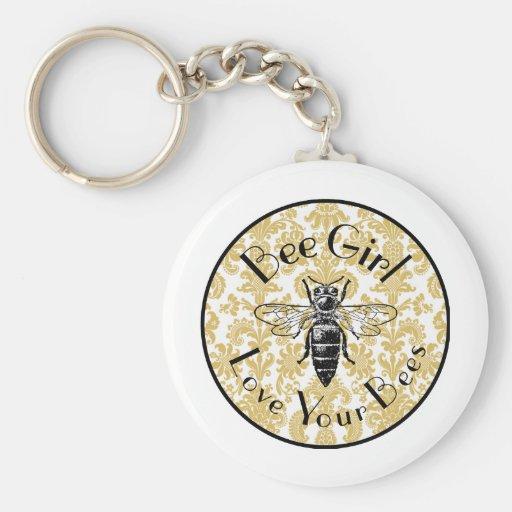 Bee Girl Keychains