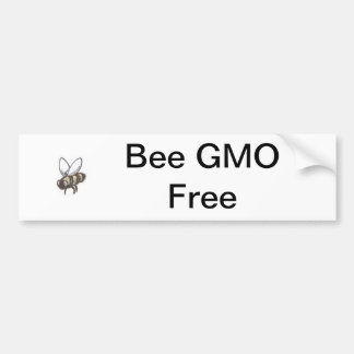 Bee GMO Free Bumper Sticker